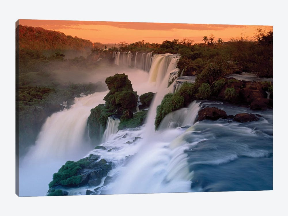 Cascades Of The Iguacu Falls, The World's Largest Waterfalls, Iguacu National Park, Argentina by Thomas Marent 1-piece Canvas Wall Art