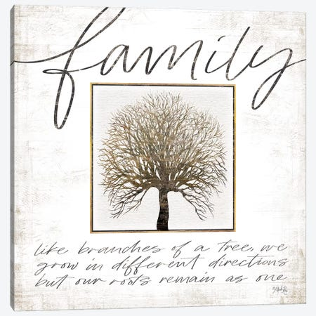 Family Tree Canvas Print #MRR111} by Marla Rae Art Print