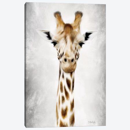 Geri the Giraffe Up Close Canvas Print #MRR112} by Marla Rae Canvas Art Print