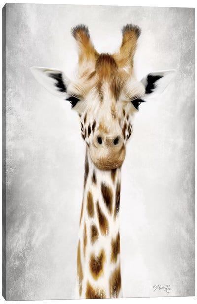 Geri the Giraffe Up Close Canvas Art Print