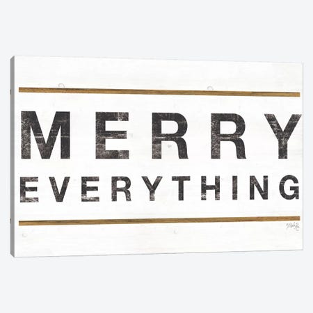 Merry Everything Canvas Print #MRR136} by Marla Rae Canvas Artwork