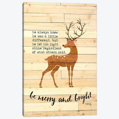 Be Merry and Bright Deer Canvas Print #MRR138} by Marla Rae Canvas Art Print