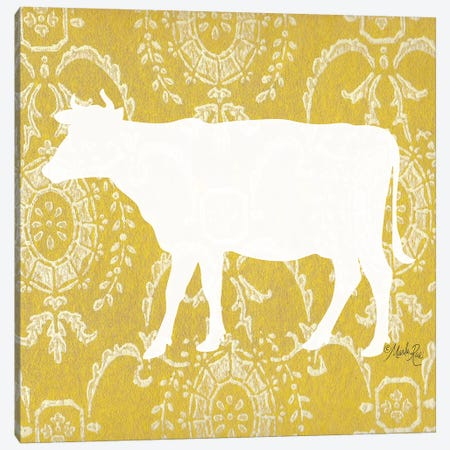 Cow Silhouette Canvas Print #MRR142} by Marla Rae Canvas Art