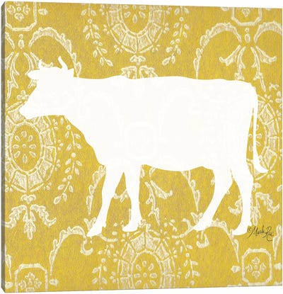 Cow Silhouette Canvas Art Print