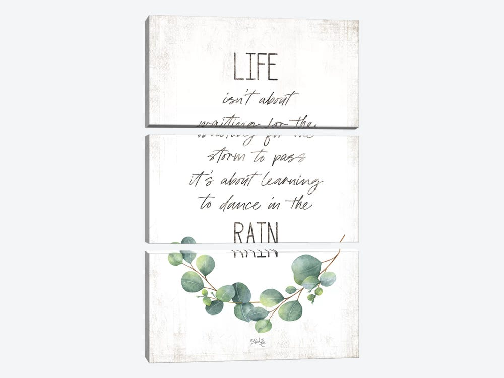 Dance in the Rain by Marla Rae 3-piece Canvas Wall Art