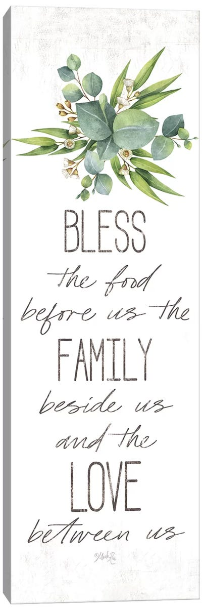 Dinner Blessing Canvas Art Print
