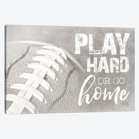 Football - Play Hard Canvas Print #MRR148} by Marla Rae Canvas Art