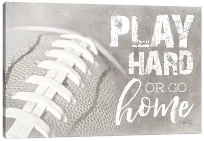 Football - Play Hard Canvas Art Print