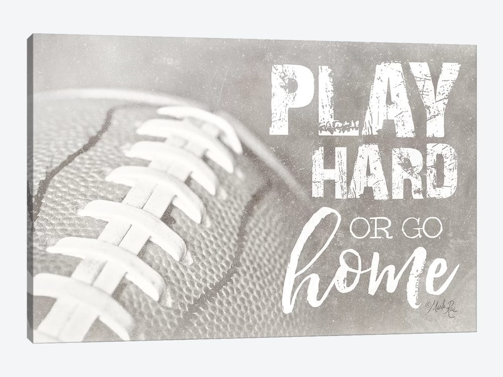 Football - Play Hard by Marla Rae 1-piece Canvas Art