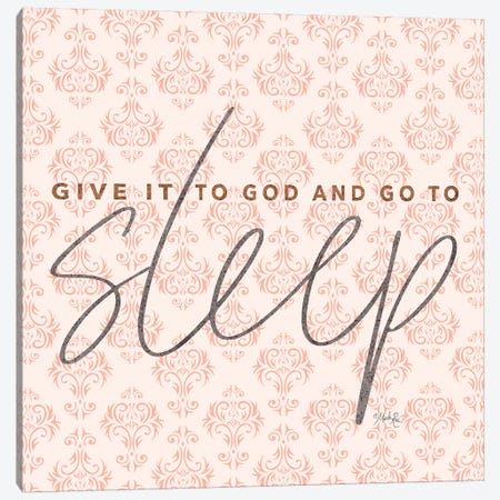 Give it to God - Coral Canvas Print #MRR150} by Marla Rae Art Print