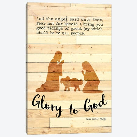 Glory to God Canvas Print #MRR151} by Marla Rae Art Print