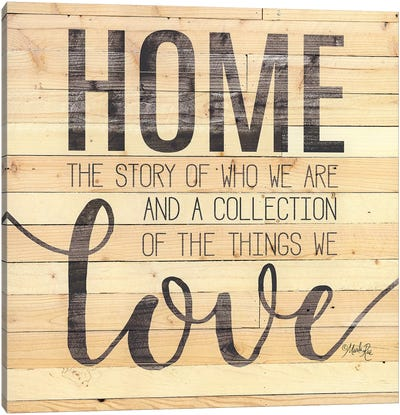 Home Story Canvas Art Print