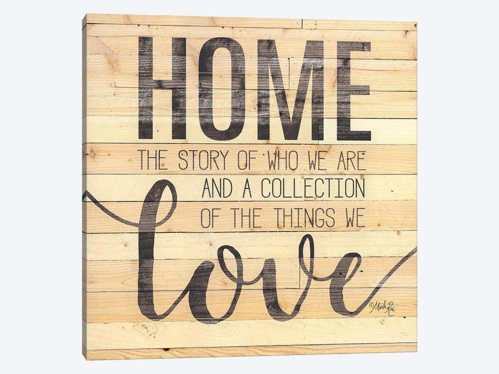 Home Story by Marla Rae 1-piece Canvas Wall Art