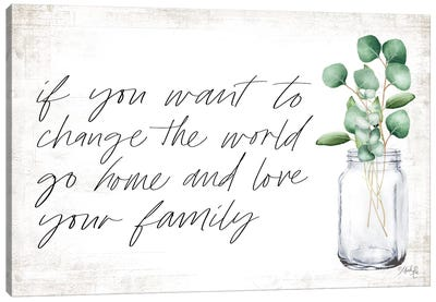 Love Your Family Canvas Art Print