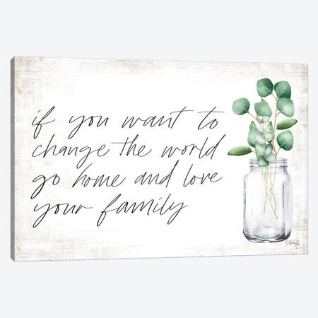 Love Your Family Canvas Print #MRR157} by Marla Rae Canvas Art