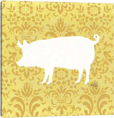 Pig Silhouette Canvas Art Print