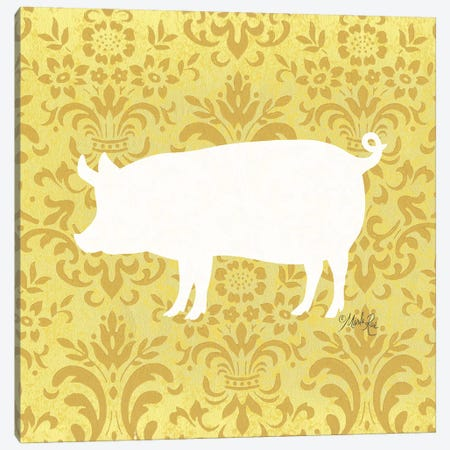 Pig Silhouette 3-Piece Canvas #MRR162} by Marla Rae Canvas Art