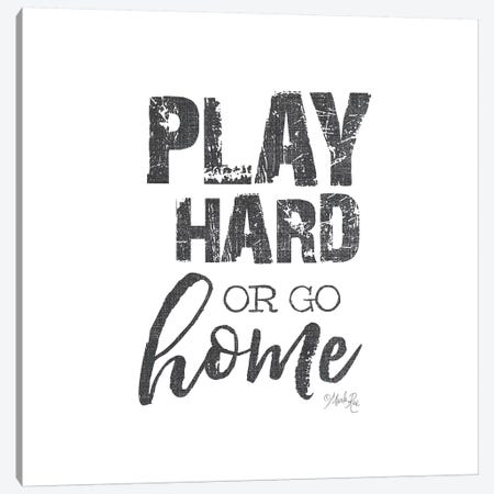 Play Hard Canvas Print #MRR163} by Marla Rae Canvas Artwork