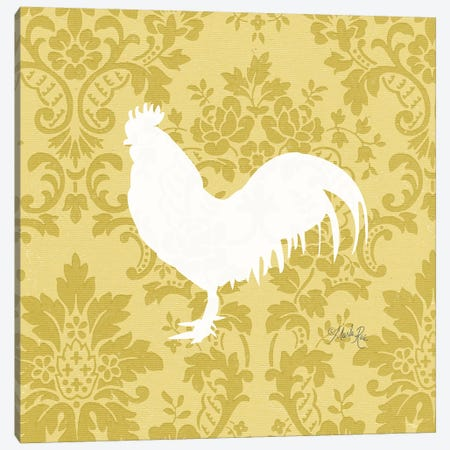 Rooster Silhouette Canvas Print #MRR164} by Marla Rae Canvas Art Print