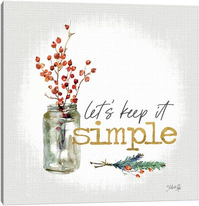 Simple Christmas Canvas Art Print