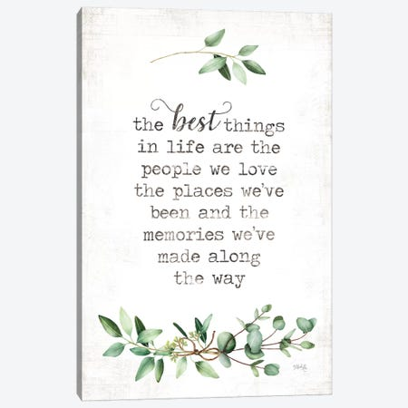 The Best Things Canvas Print #MRR169} by Marla Rae Canvas Artwork