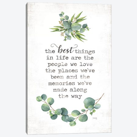 The Best Things Canvas Print #MRR170} by Marla Rae Art Print