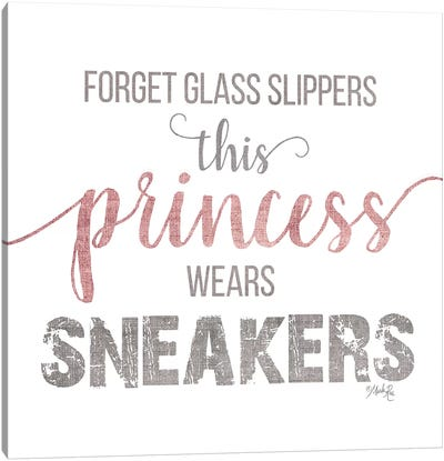 This Princess Wears Sneakers Canvas Art Print
