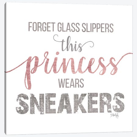 This Princess Wears Sneakers Canvas Print #MRR173} by Marla Rae Canvas Print