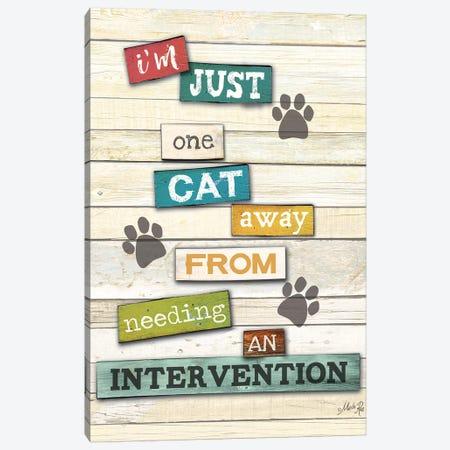 Cat Intervention Canvas Print #MRR177} by Marla Rae Canvas Art
