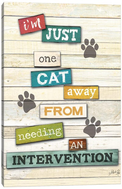 Cat Intervention Canvas Art Print