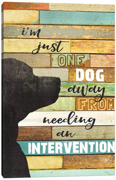 Dog Intervention Canvas Art Print