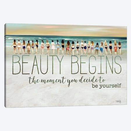 Beauty Begins Canvas Print #MRR181} by Marla Rae Canvas Art