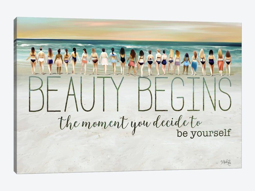 Beauty Begins by Marla Rae 1-piece Canvas Art Print