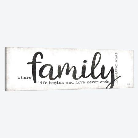 Family Where Life Begins Canvas Print #MRR195} by Marla Rae Canvas Artwork