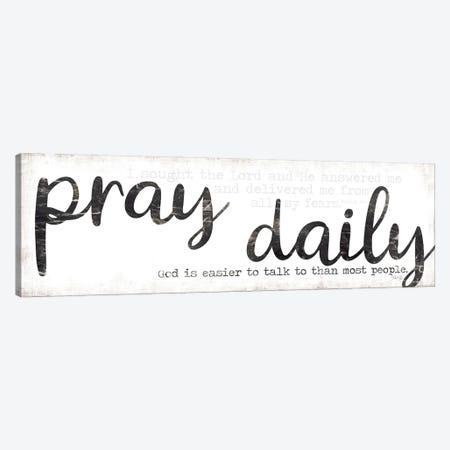 Pray Daily Canvas Print #MRR203} by Marla Rae Art Print