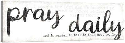 Pray Daily Canvas Art Print
