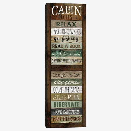 Cabin Rules Canvas Print #MRR207} by Marla Rae Canvas Art
