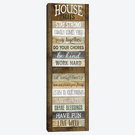 House Rules Canvas Print #MRR210} by Marla Rae Canvas Art