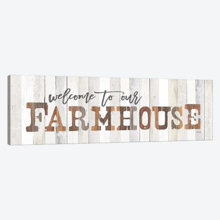 Welcome to Our Farmhouse Canvas Print #MRR217} by Marla Rae Canvas Print
