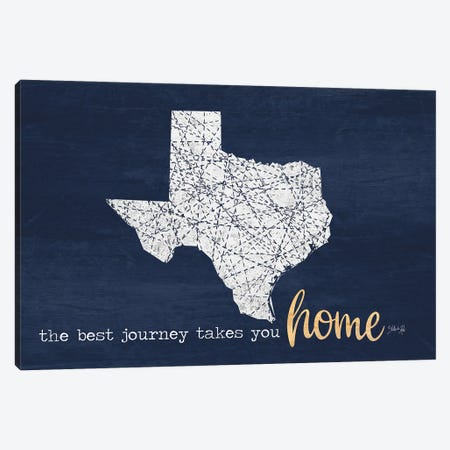 Best Journey - Texas Canvas Print #MRR221} by Marla Rae Canvas Print