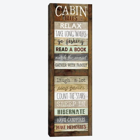Cabin Rules Canvas Print #MRR222} by Marla Rae Canvas Print