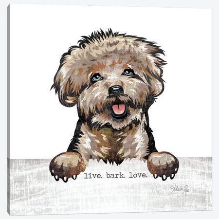 Live. Bark. Love. Canvas Print #MRR232} by Marla Rae Canvas Artwork