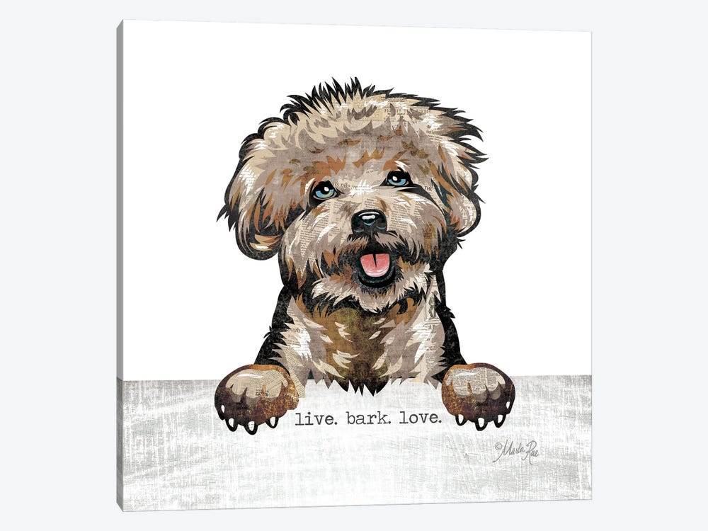 Live. Bark. Love. by Marla Rae 1-piece Canvas Print