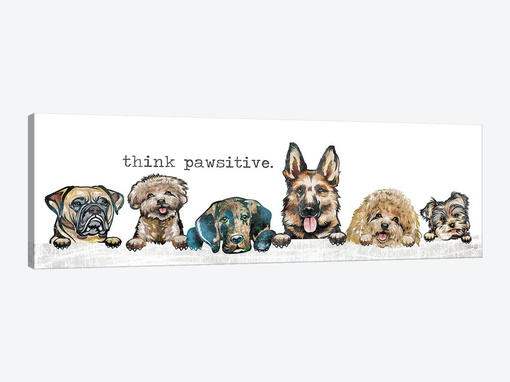 Think Pawsitive by Marla Rae 1-piece Canvas Print
