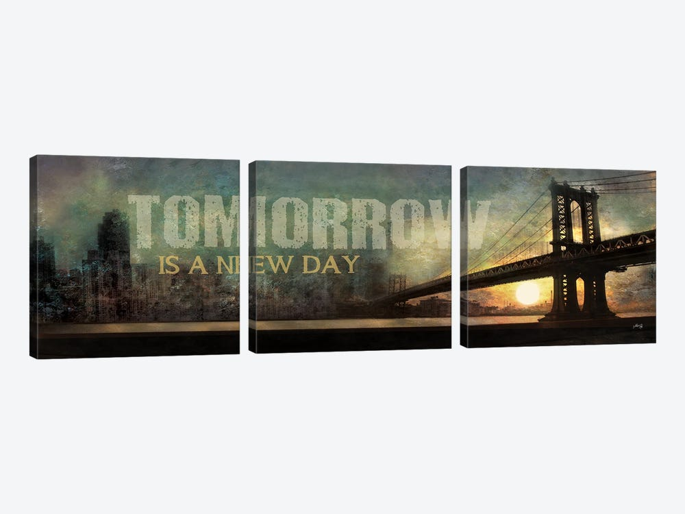 Tomorrow is a New Day by Marla Rae 3-piece Canvas Art