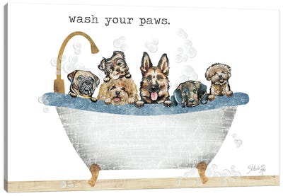 Wash Your Paws Canvas Art Print