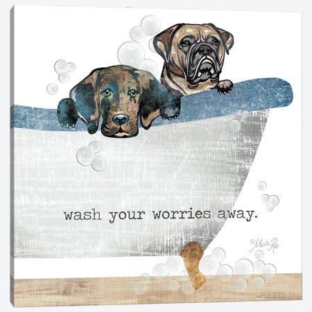 Wash your Worries Away Canvas Print #MRR239} by Marla Rae Canvas Artwork
