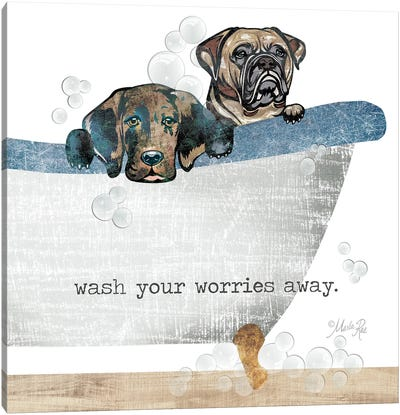 Wash your Worries Away Canvas Art Print