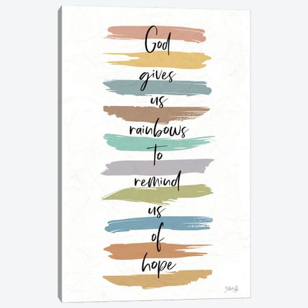 God Gives Us Rainbows Canvas Print #MRR243} by Marla Rae Canvas Art Print