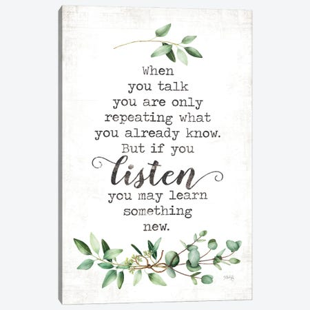 Listen and Learn Canvas Print #MRR244} by Marla Rae Canvas Art